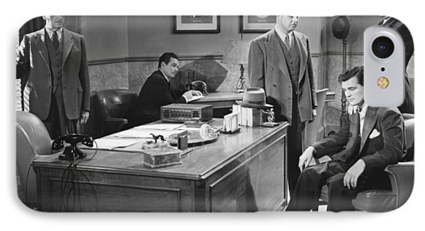 Film Still Office Arrest IPhone Case by Underwood Archives