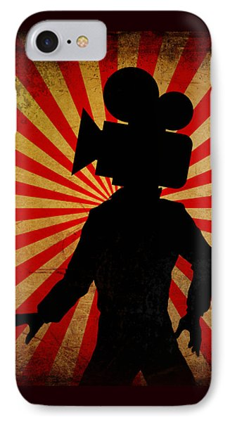 Movie Camera Head Filmmaker Film Geek Art IPhone Case by Tina Lavoie