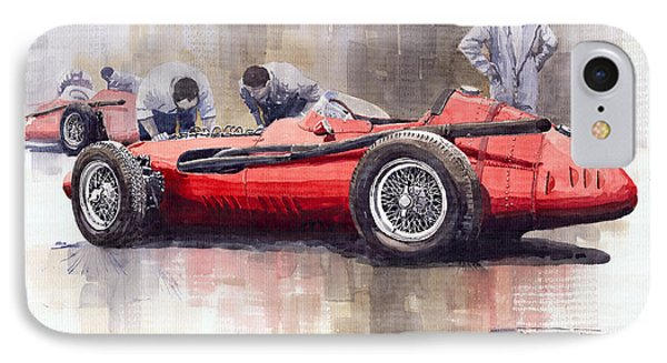 Final Check Before The Start Maserati 250 F 1957 IPhone Case