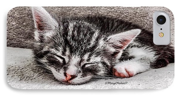 Finally Asleep  Copyright Mary Lee Parker 17  IPhone Case by MaryLee Parker