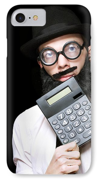 Financial And Accounting Genius With Calculator IPhone Case