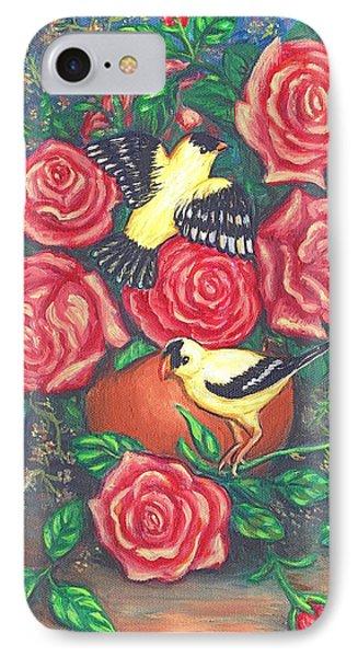 Finch Fancy Phone Case by Linda Mears