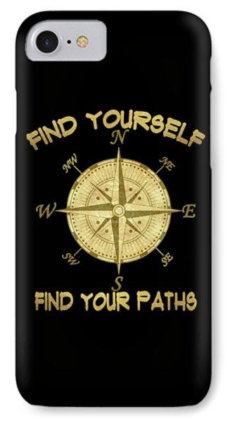 Find Yourself Find Your Paths IPhone Case by Georgeta Blanaru