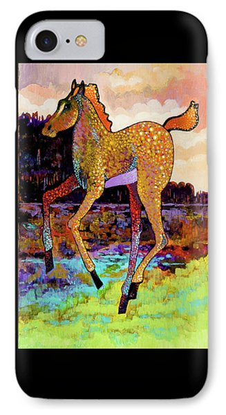IPhone Case featuring the painting Finding His Legs by Bob Coonts