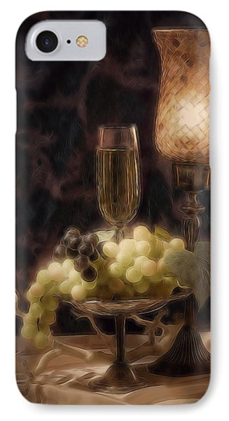 Fine Wine Still Life IPhone Case by Tom Mc Nemar