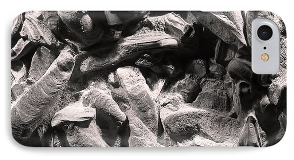 IPhone Case featuring the photograph Fingers Of Time - Giant Oyster Shell Fossils by Menega Sabidussi