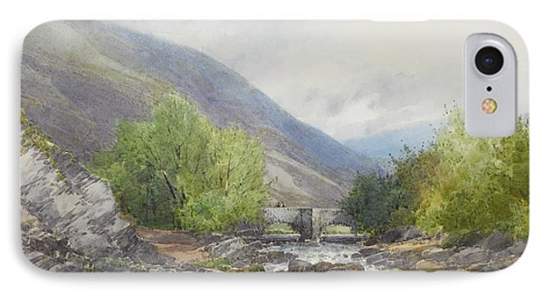 Fingle Bridge On The Teign IPhone Case by Frederick John Widgery