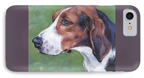 IPhone Case featuring the painting Finnish Hound by Lee Ann Shepard
