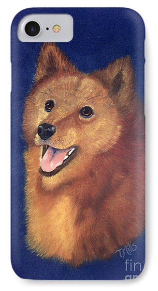 IPhone Case featuring the painting Finnish Spitz by Terri Mills