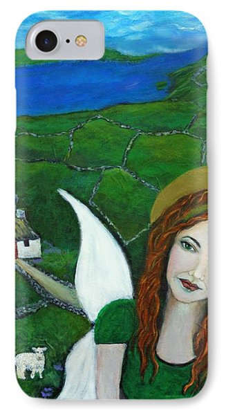 Fiona An Irish Earthangel Phone Case by The Art With A Heart By Charlotte Phillips