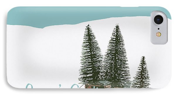 Fir Trees In The Snow Christmas Card IPhone Case by Wolf Kettler