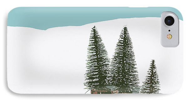 Fir Trees In The Snow IPhone Case by Wolf Kettler