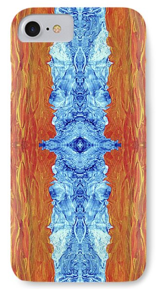Fire And Ice - Digital 2 Phone Case by Otto Rapp