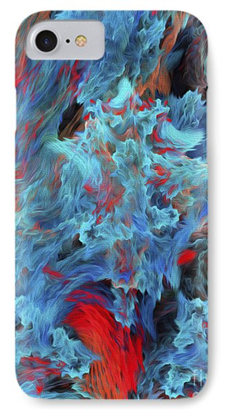 IPhone Case featuring the digital art Fire And Water Abstract by Andee Design