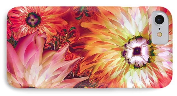 Fire Asters IPhone Case by Mindy Sommers