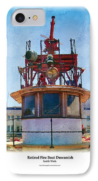 IPhone Case featuring the painting Fire Boat by Kenneth De Tore