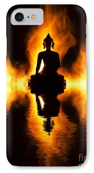 Fire Buddha IPhone Case by Tim Gainey