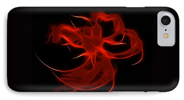IPhone Case featuring the digital art Fire Dancer by Holly Ethan