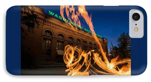 Fire Dancers In Spokane W A IPhone Case by Steve Gadomski