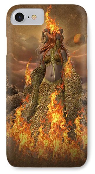 Fire - Elements IPhone Case by Ali Oppy