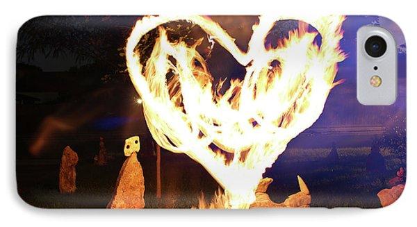 Fire Heart IPhone Case