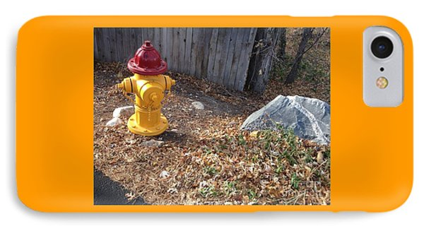 Fire Hydrant Checking Its Facerock IPhone Case by Richard W Linford