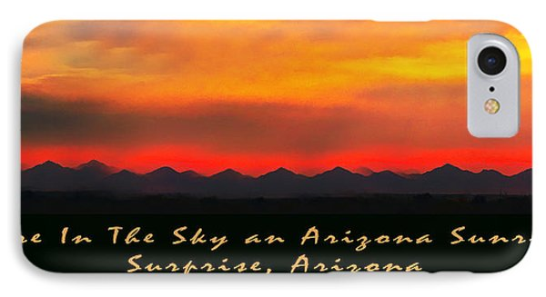 Fire In The Sky IPhone Case by Barbara Snyder