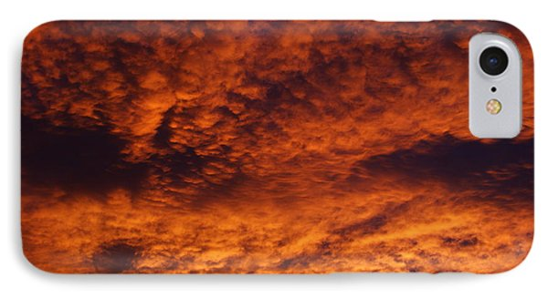 Fire In The Sky IPhone Case by Ernie Echols