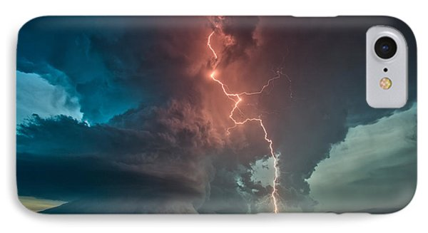 IPhone Case featuring the photograph Fire In The Sky. by James Menzies