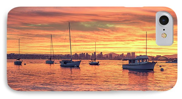 Fire In The Sky IPhone Case by Joseph S Giacalone