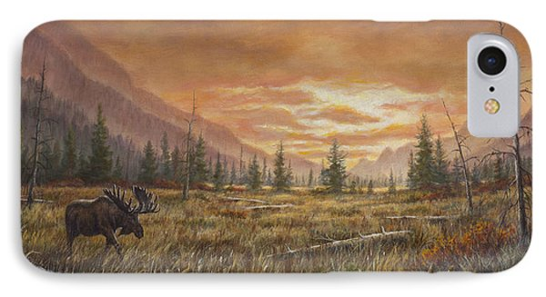 IPhone Case featuring the painting Fire In The Sky by Kim Lockman