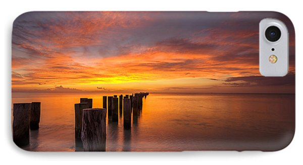 Fire In The Sky IPhone Case by Mike Lang