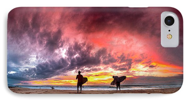 Fire In The Sky. IPhone Case by Sean Davey