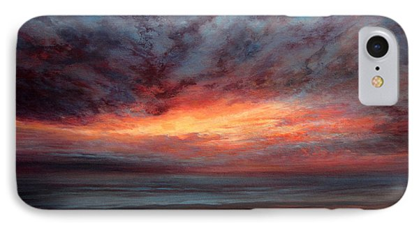 Fire In The Sky IPhone Case by Valerie Travers
