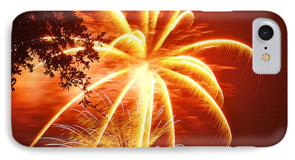 Fire In The Trees Phone Case by Phill Doherty