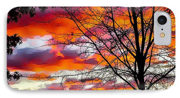 Fire Inthe Sky IPhone Case by MaryLee Parker