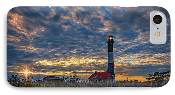 Fire Island Lighthouse At Sunset IPhone Case by Rick Berk