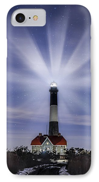 Fire Island Lighthouse Twilight IPhone Case by Susan Candelario