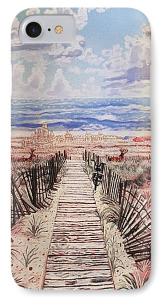 Fire Island Walkway To The Beach IPhone Case by Bonnie Siracusa
