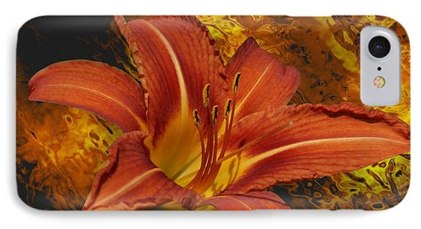 Fire Lilly IPhone Case by Rick Friedle