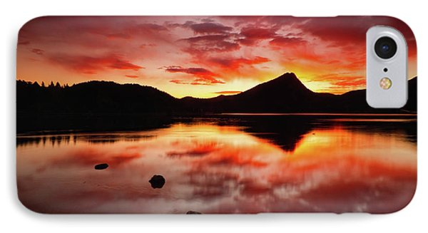 IPhone Case featuring the photograph Fire Of Fall by John De Bord