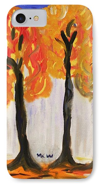 Fire Of The Wood Phone Case by Mary Carol Williams