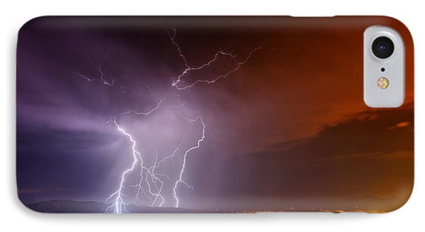 IPhone Case featuring the photograph Fire On The Mountain by James Menzies