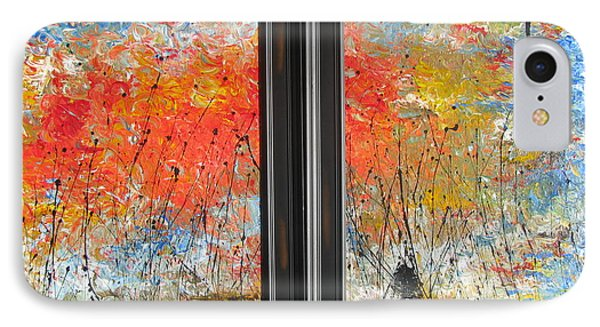 IPhone Case featuring the painting Fire On The Prairie by Jacqueline Athmann