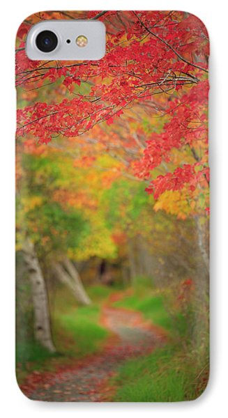 IPhone Case featuring the photograph Fire Red Path  by Emmanuel Panagiotakis