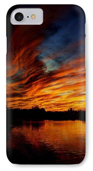 Fire Sky Phone Case by Saija  Lehtonen