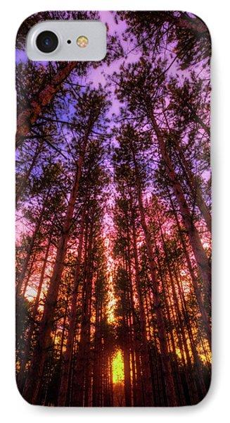 Fire Sky - Sunset At Retzer Nature Center - Waukesha Wisconsin IPhone Case by Jennifer Rondinelli Reilly - Fine Art Photography