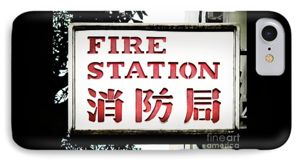 Fire Station Sign Phone Case by Ethna Gillespie