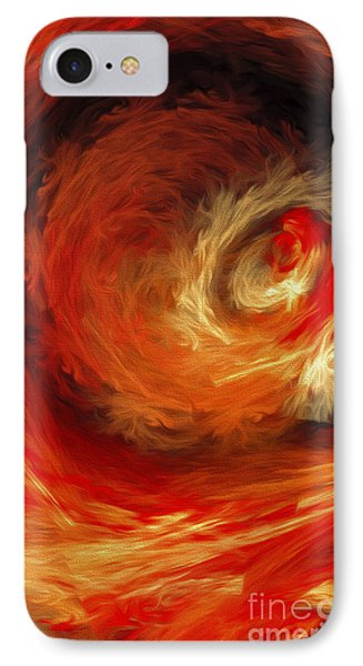 IPhone Case featuring the digital art Fire Storm Abstract by Andee Design