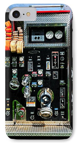 Fire Truck Control Panel IPhone Case by Dave Mills